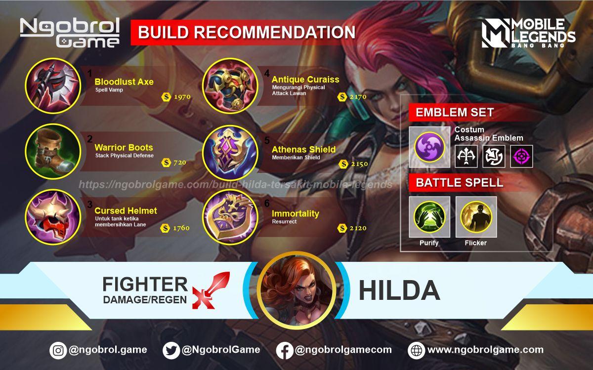 Build Hilda Top Global Tersakit Mobile Legends