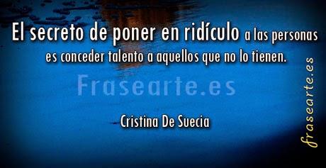 Citas de Cristina de Suecia