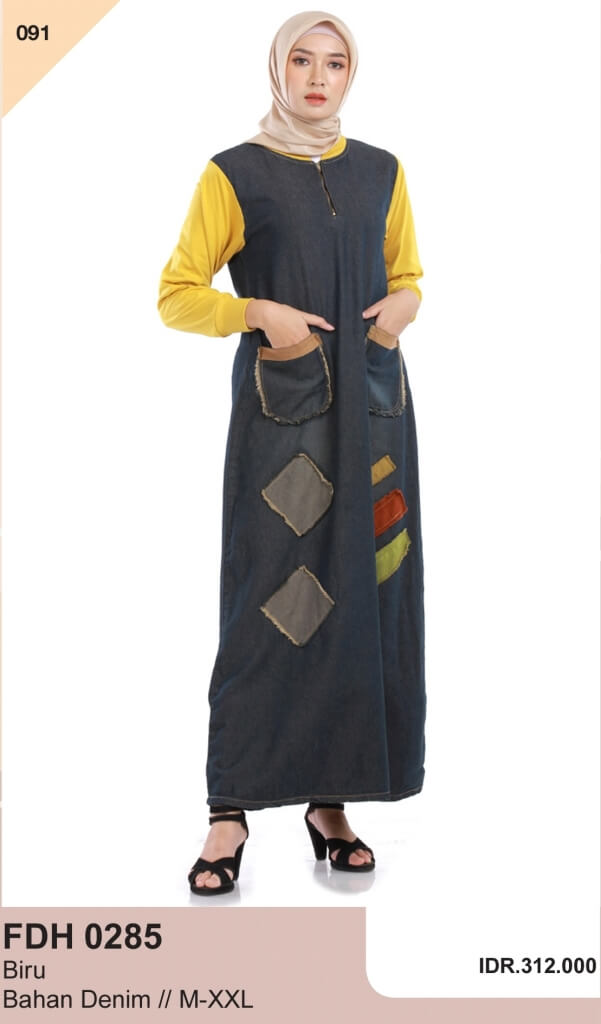 Model Baju Gamis Terbaru 2021 Wanita Berhijab Update Terbaru