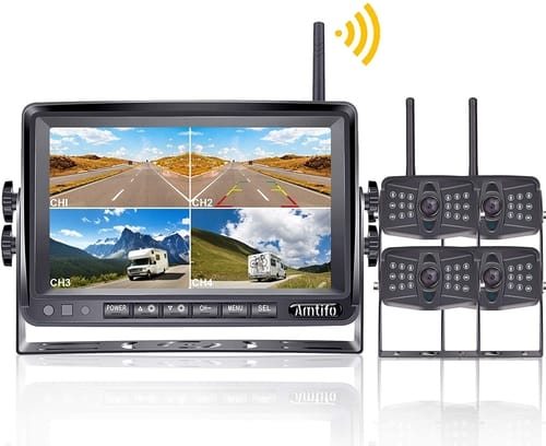 AMTIFO A4 HD 1080P Wireless 4 Backup Cameras