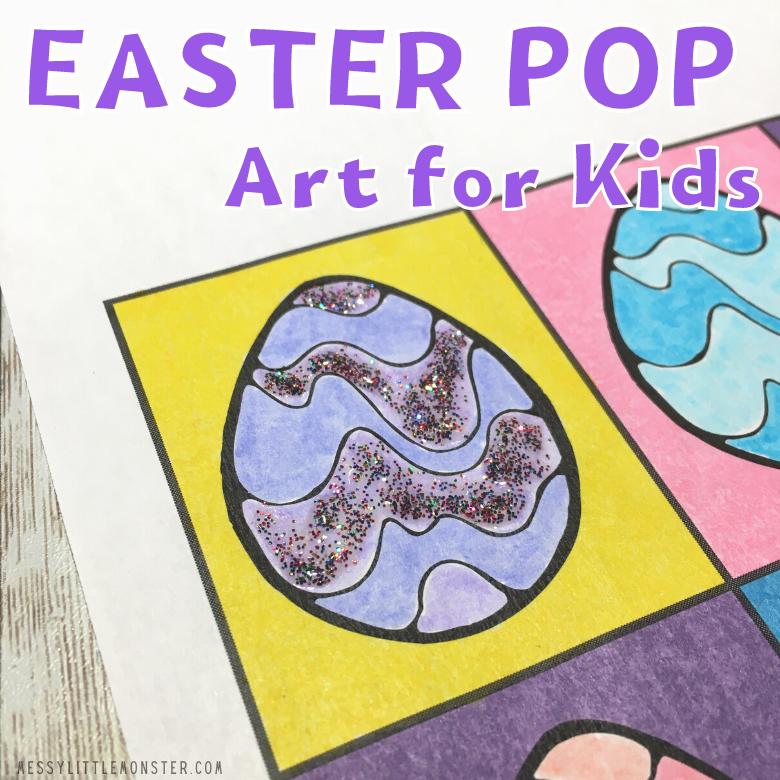 Easter pop art for kids