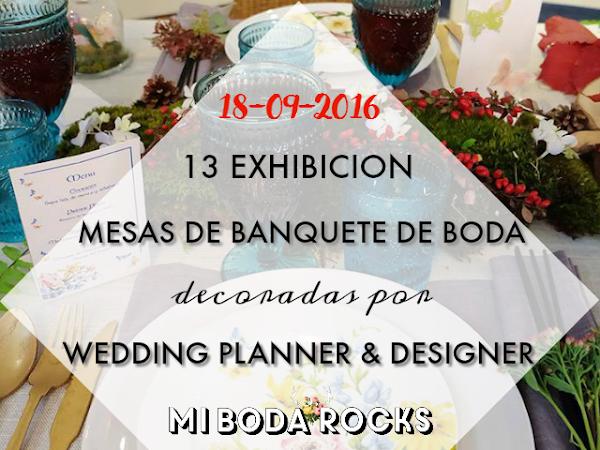Exhibición Mesas Wedding Planner MBRE Asturias