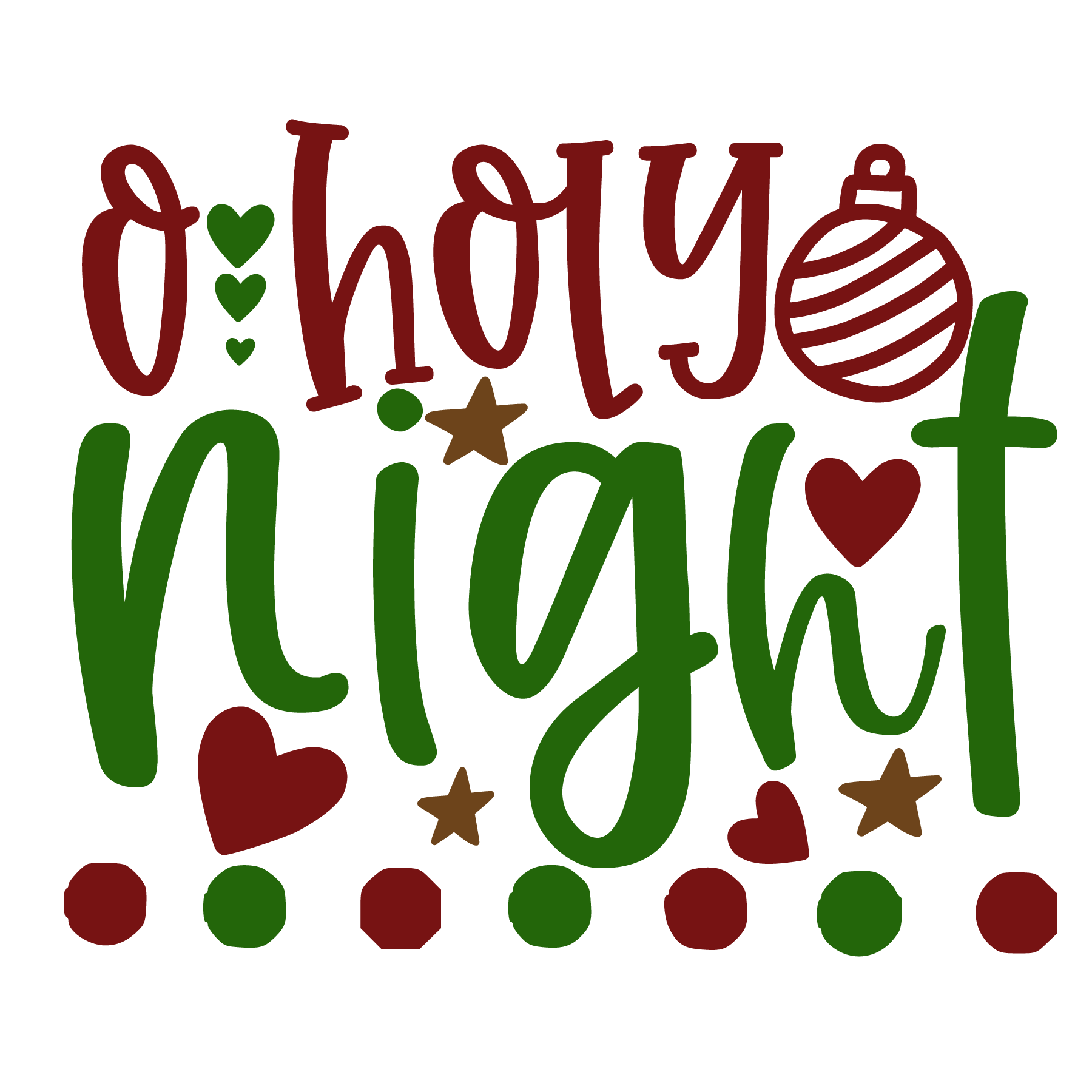 O Holy Night SVG Cut Files