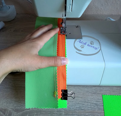 Adzik tworzy - jak uszyć piórnik DIY z zamkiem