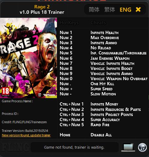 Download Cheat RAGE 2 untuk PC
