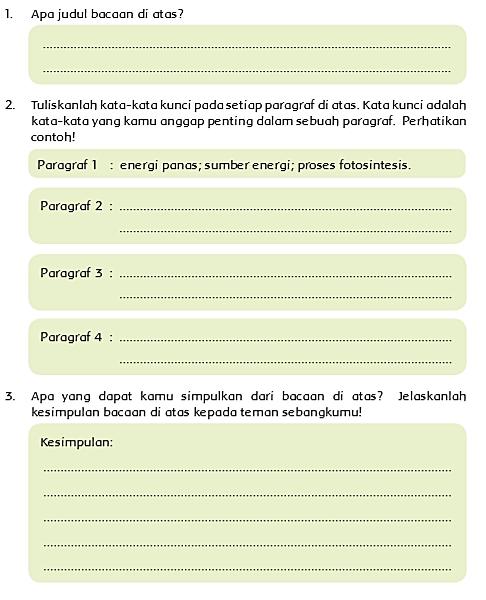 Kunci Jawaban Tema 6 Kelas 5 Halaman 4