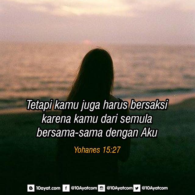Yohanes 15:27