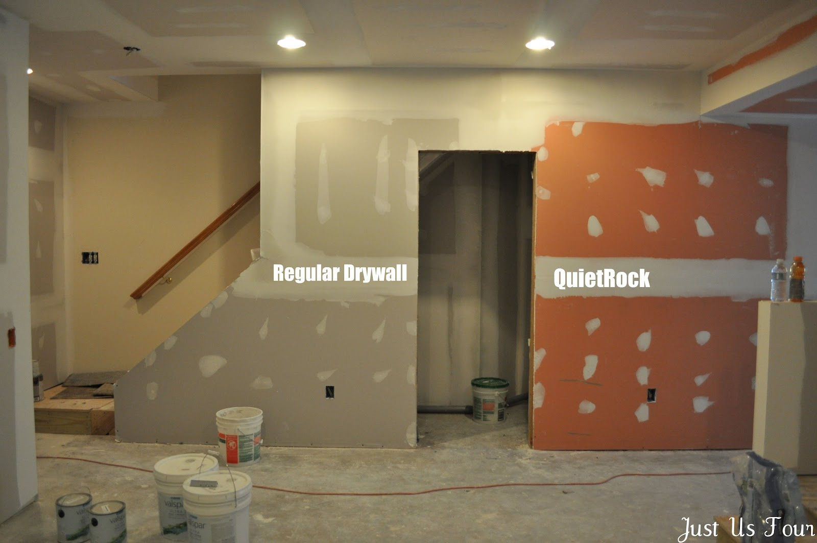 Basement reno updates galore my suburban kitchen - What type of drywall to use in bathroom ...