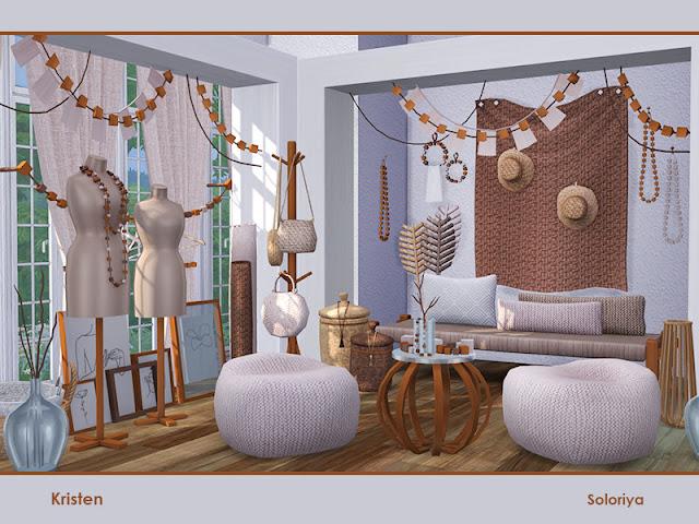 Швейная мастерская — наборы мебели и декора для Sims 4 со ссылками для скачивания