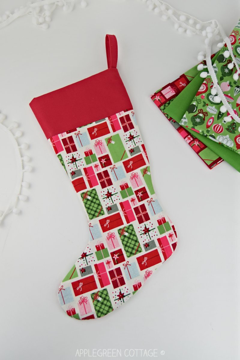 Christmas stocking sewing