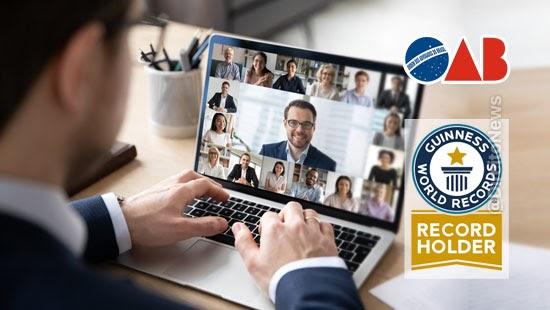 oab certificado guinness congresso virtual juridica