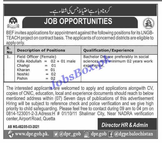 balochistan-education-foundation-bef-jobs-2021-advertisement