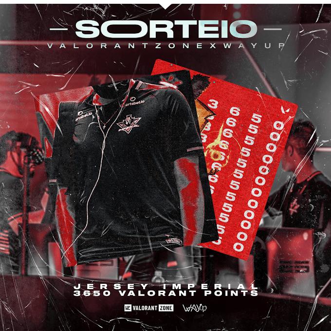 Sorteio Camisa oficial da Imperial Esports + 3650 Valorant Points