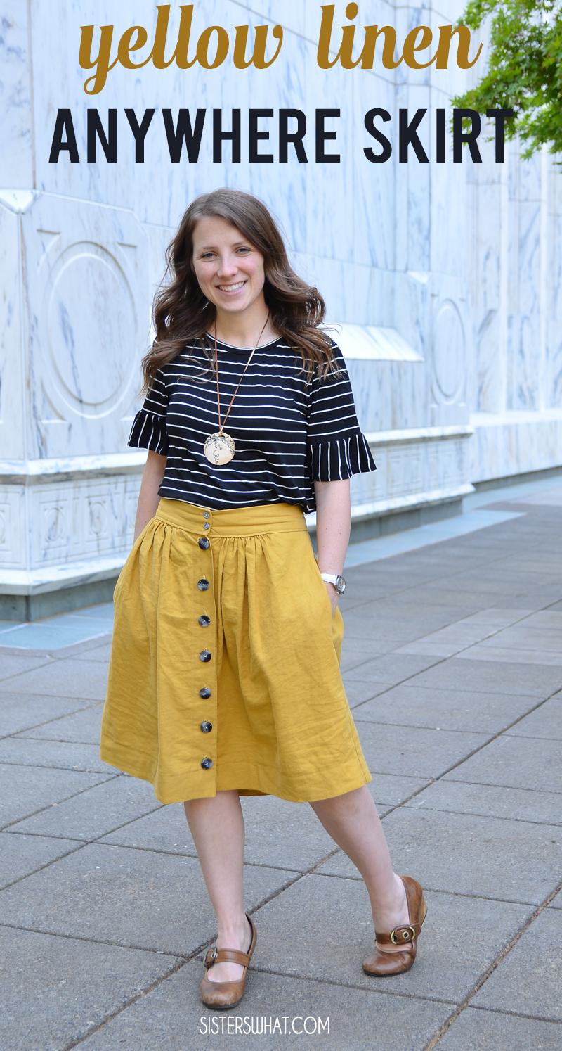 yellow linen anywhere skirt dana made it