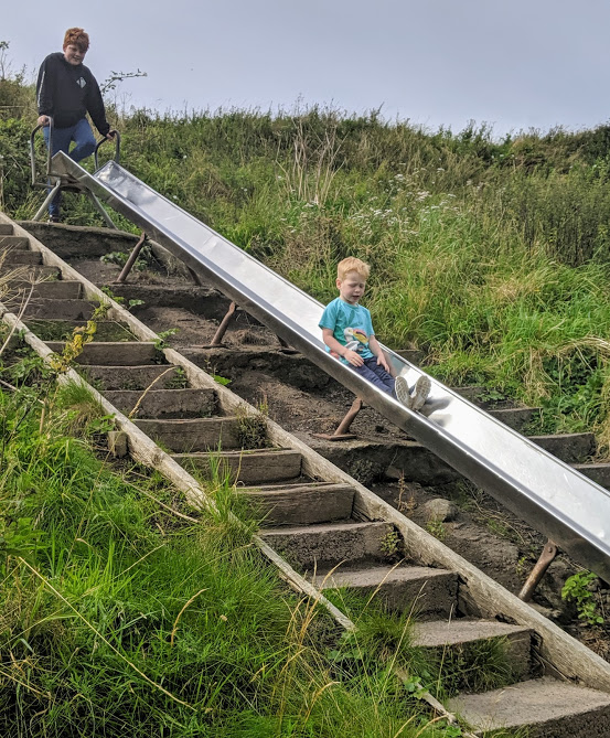 Haven Berwick Upon Tweed Review - slide at beach park