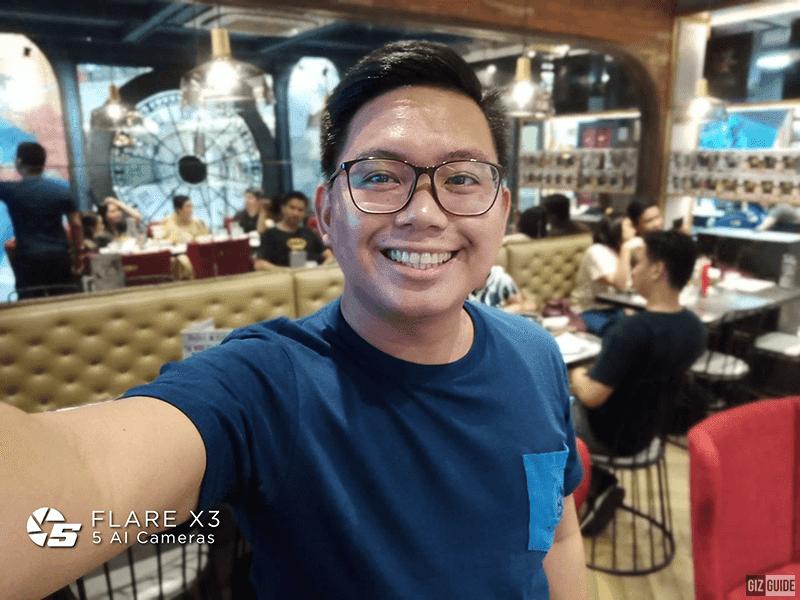 Sample selfie with depth effect