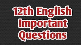 12th English important questions