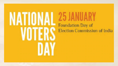 25th January : National voter day