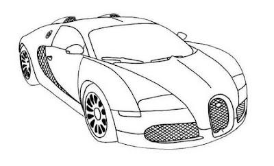 menggambar sketsa mobil