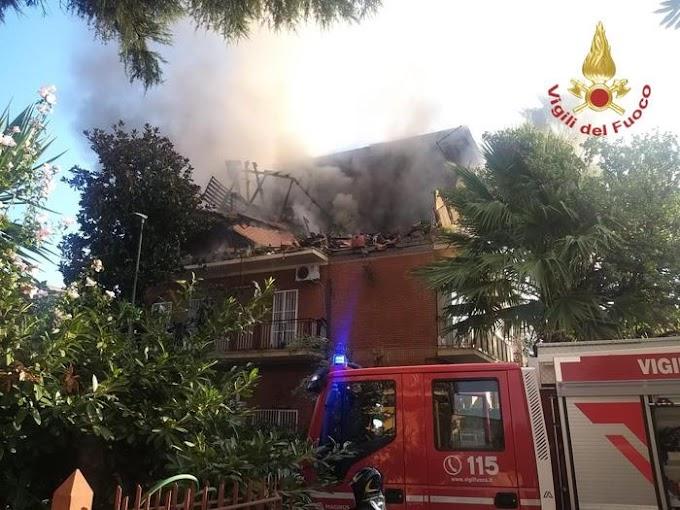 Esplode palazzina a Roma: tre feriti