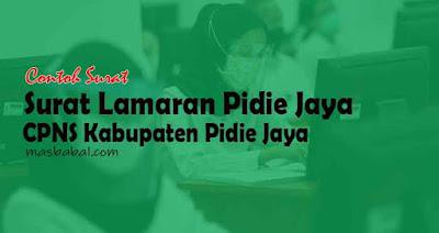 Format Surat Lamaran Pidie Jaya CPNS Kabupaten Pidie Jaya