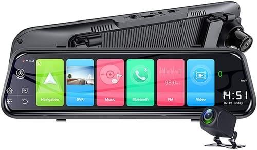 TGHY 1080P Smart Mirror Dash Cam Touch Screen