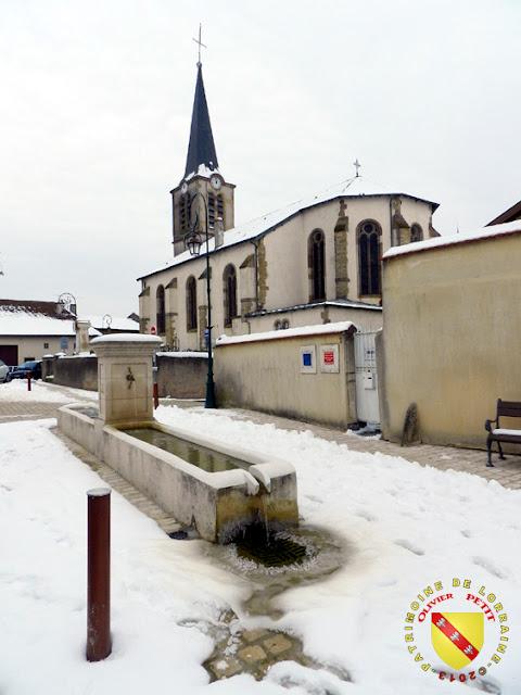 Fléville-les-Nancy - Eglise enneigée