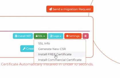 install free ssl, click on free ssl installer