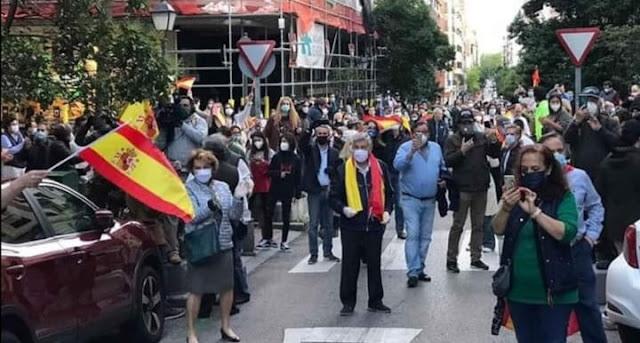 Almeida defiende la cacerolada contra el Gobierno del barrio de Salamanca