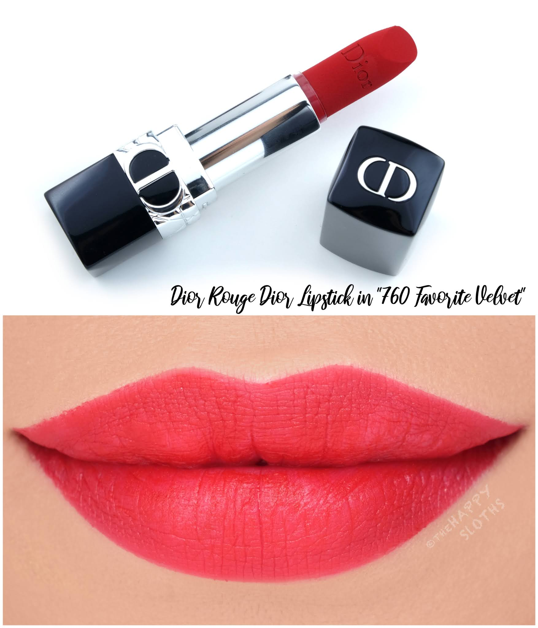 Dior | *NEW* Rouge Dior Refillable Lipstick in 760 Favorite Velvet: Review and Swatches