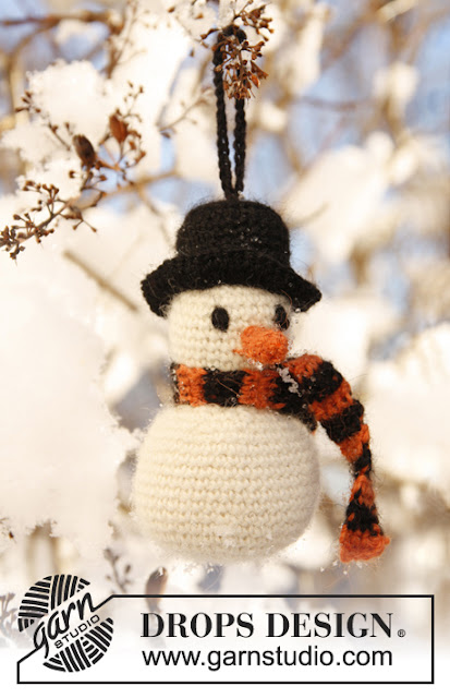 Bonhomme de neige au crochet
