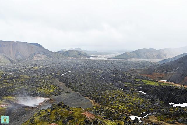 Monte Brennisteinsalda en Landmannalaugar, Islandia
