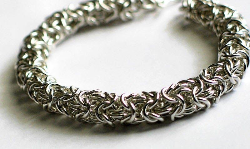 Marika S Handcrafted Jewellery Chainmail Bracelet For Men
