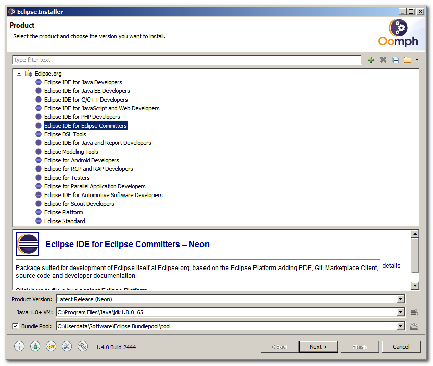 Code & Me: Oomph 01: A look at the eclipse installer