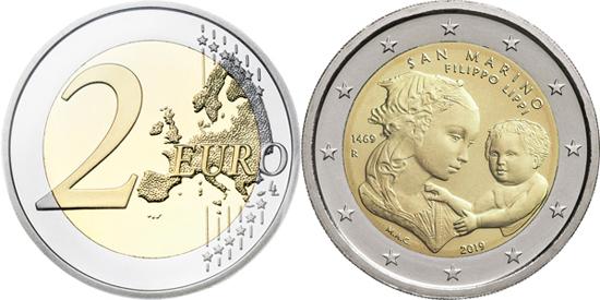 San Marino 2 euro 2019 - Filippo Lippi