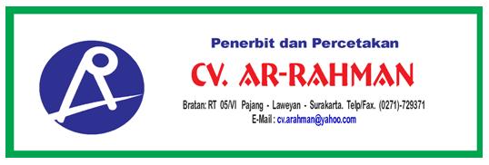 di CV Ar Rahman - Surakarta  Lowongan Kerja Terbaru Solo Raya 2017