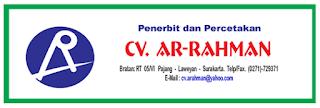 Lowongan Operator Cetak & Ilustrator di CV Ar Rahman - Surakarta