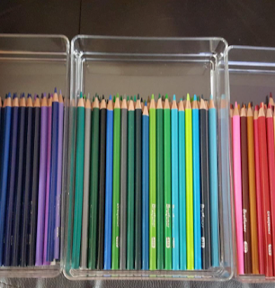 Color pencil clasroom storage