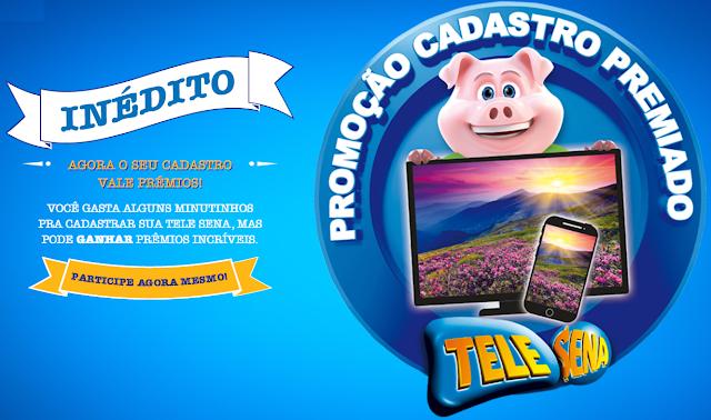 """Promoção """"Cadastro Premiado Tele Sena"""" Blog topdapromocao.com.br facebook instagram"""