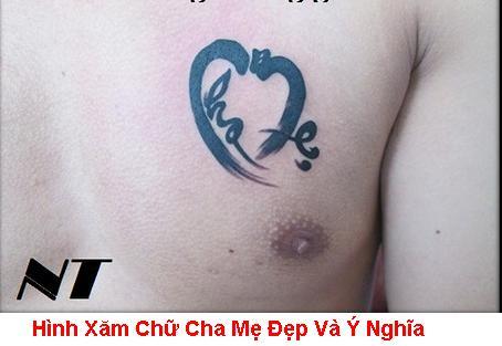 Hinh Xam Chu Cha Me Dep