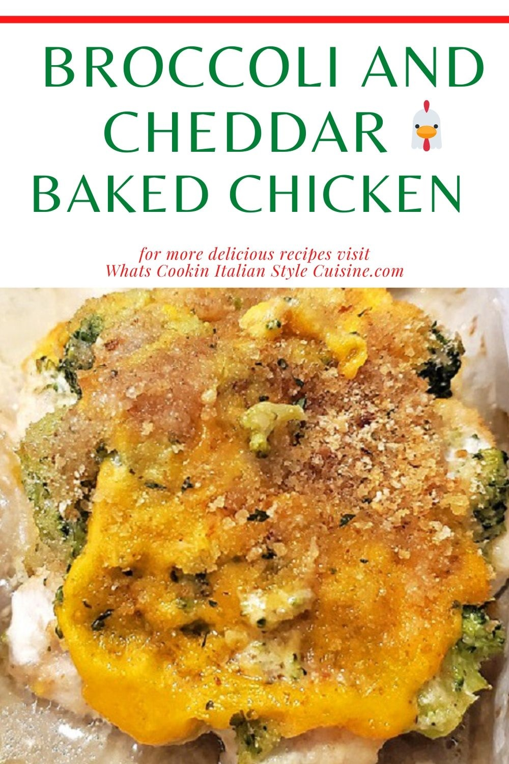 this is how to make broccoli and cheddar baked chicken pin for later