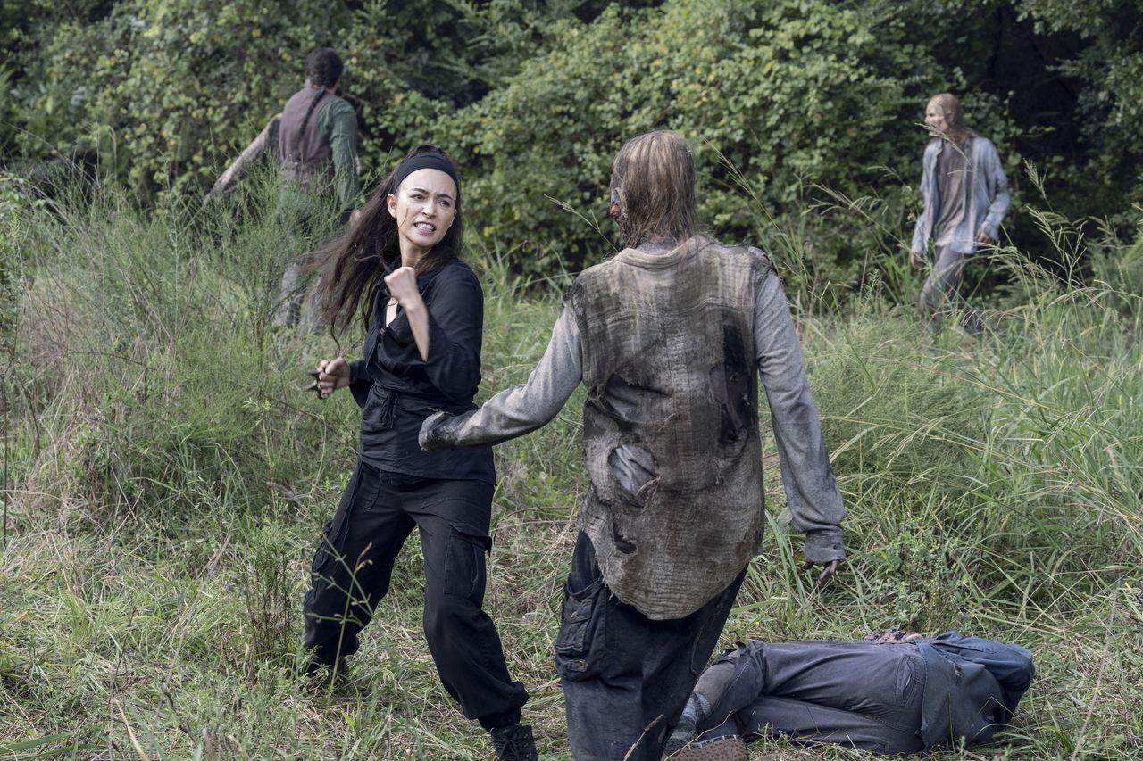 Rosita, en el episodio 10x08 de The Walking Dead