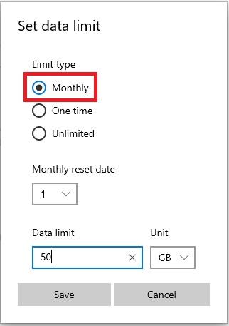كيفية تحديد مقدار محدد لاستخدام الانترنت ومعرفة استهلاك كل برنامج في ويندوز 10