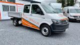 Vanaf €70,- | VW Transporter Pick-up 6 zitplaatsen (met trekhaak)