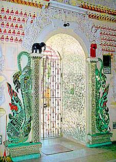 Buddhist Glass Temple Interior