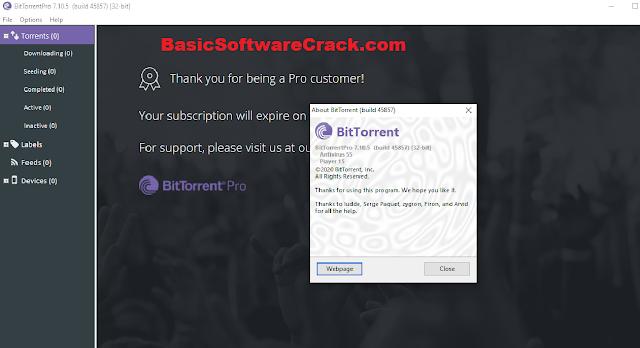 BitTorrent Pro v7.10.5 Build 45967 with Key
