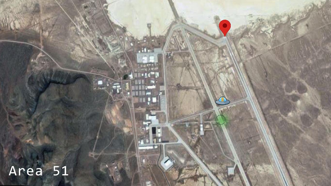 Area 51 .Se negó su existencia por más de 50 años.