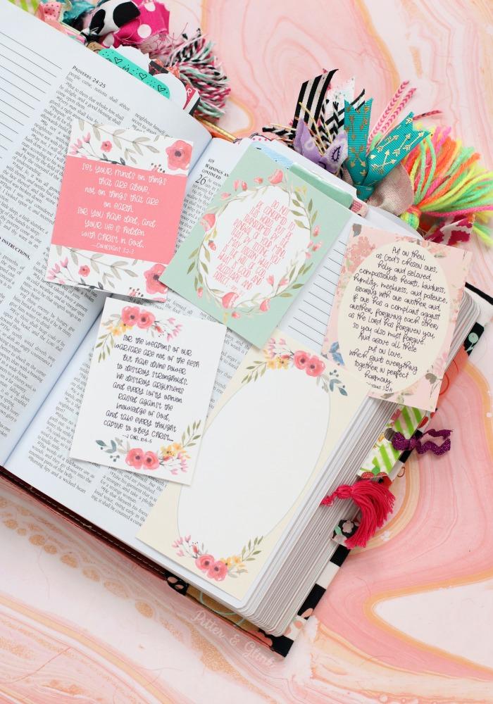 PitterAndGlink Free Printable Scripture Verse Journaling Cards