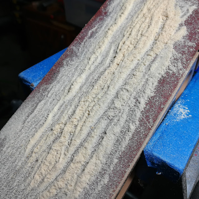 Sanding Block After Sanding Wood Toy Axles