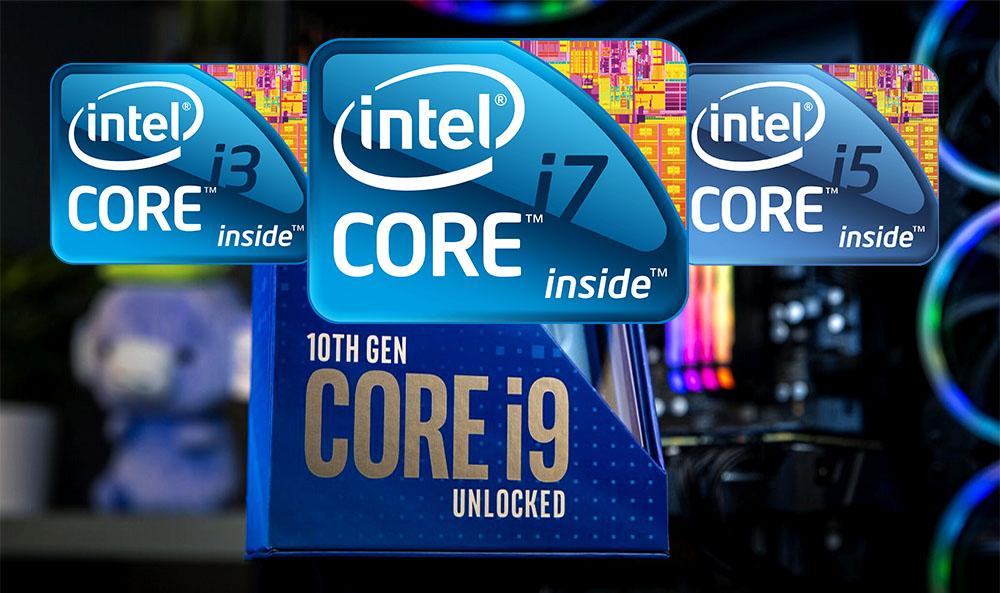 procesadores Core i3, i5, i7, i9